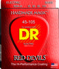 DR Red Devils Four String Bass Guitar Strings, Red Coated Nickel-Plated Steel, Medium 45-105 - Dudebroski Guitars