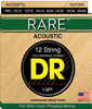 DR Rare Phosphor Bronze 12 String Acoustic Guitar Strings, 10/10-48/28 - Dudebroski Guitars