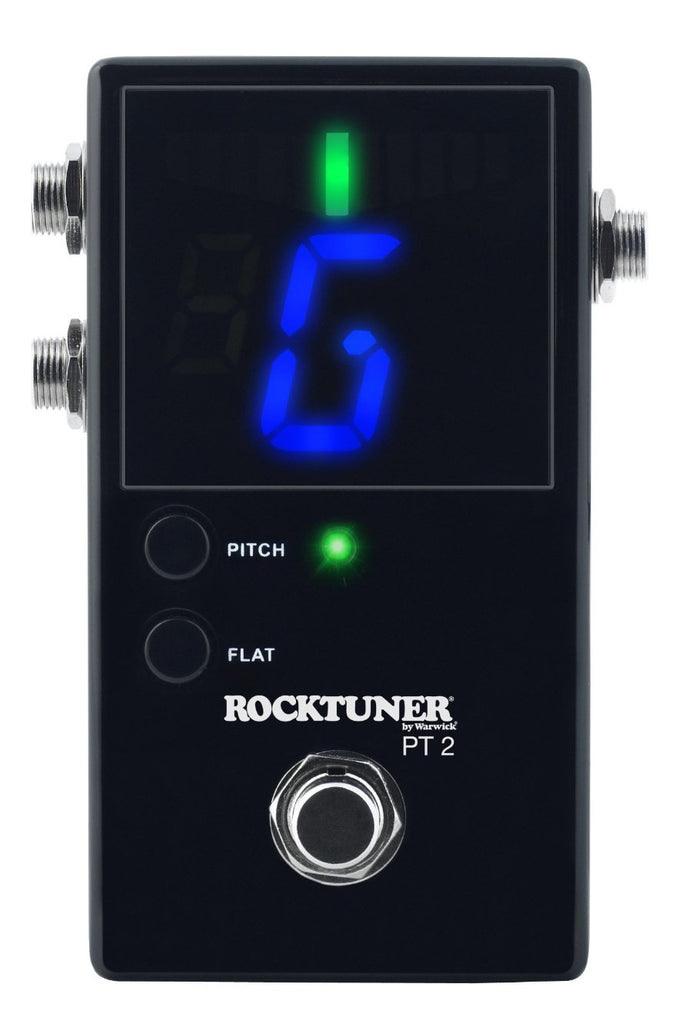 RockBoard PT 2 - Pedal Tuner, Chromatic, LED, Black True Bypass, Calibration