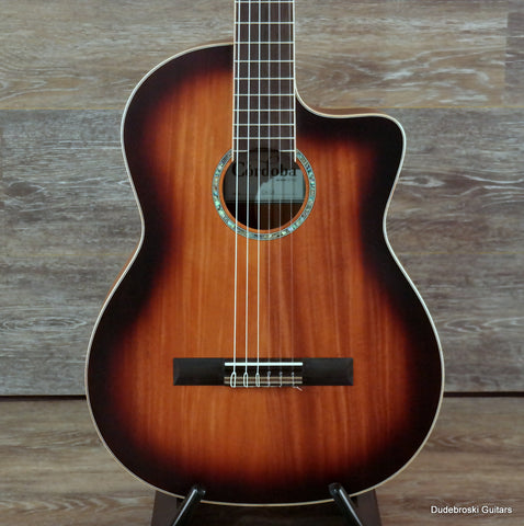 Cordoba C4CE 6-string Acoustic Nylon-string Classical Guitar with Mahogany Top - Dudebroski Guitars