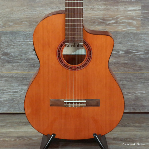 Cordoba C5-CET Thinline, Classical Acoustic-Electric Nylon-string Guitar - Dudebroski Guitars