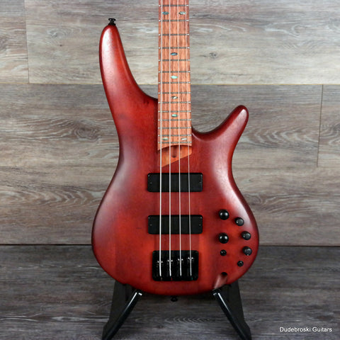 Ibanez SR500E Electric Bass, Fast Neck, Bartolini Pick-ups - Brown Mahogany - Dudebroski Guitars