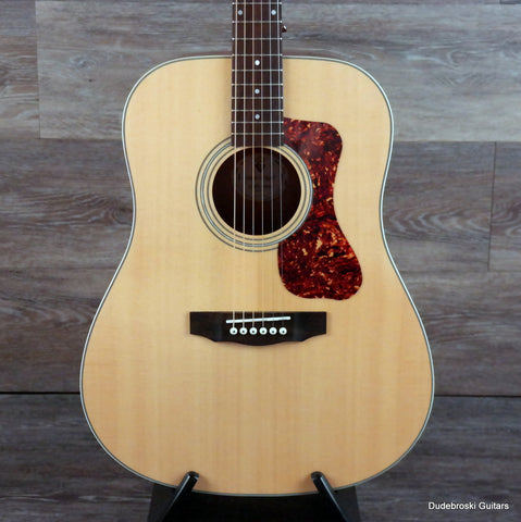 Guild D-240E Flame Mahogany Acoustic-Electric Guitar - Natural - Dudebroski Guitars