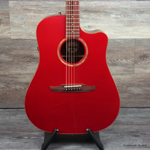 1. Fender Redondo Classic Acoustic-Electric - Hot Red Metallic - Dudebroski Guitars