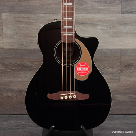 Fender Kingman V2 California Series Acoustic-Electric Bass - Black - Dudebroski Guitars