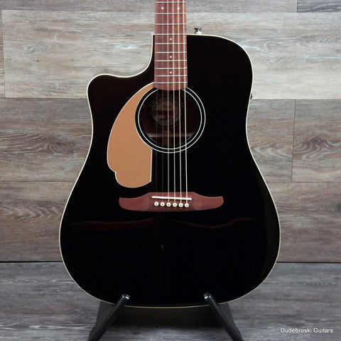 Fender Redondo Player Left-handed Acoustic-electric Guitar - Jetty Black - Dudebroski Guitars