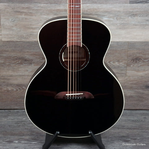 Alvarez ABT610EBK Baritone Acoustic-Electric Guitar, Black - Dudebroski Guitars