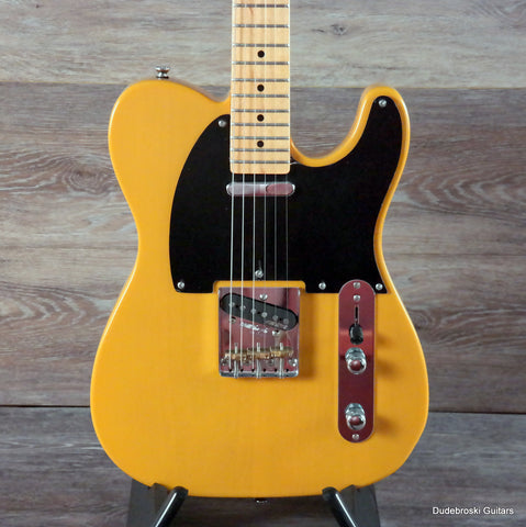 Vintage V52 Reissued, a 50's Inspired T-Style Electric Guitar, Butterscotch - Dudebroski Guitars