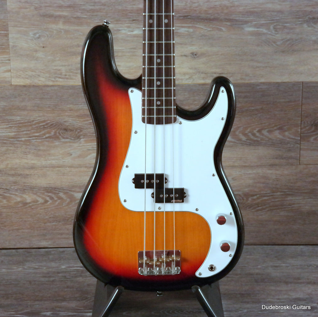 Vintage Reissue V4 Bass Guitar, Alder Body, Hard Maple Neck, Sunset Sunburst