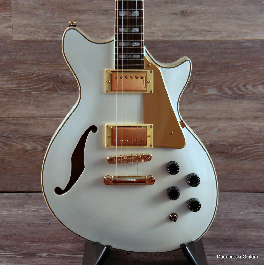 ESP Xtone PC-2 Semi-Hollow Electric Guitar - Pearl White
