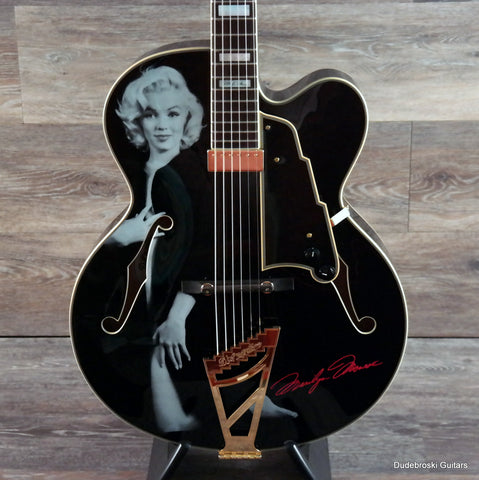 1. D'Angelico EXL-1 Excel Series Hollow-body Special Edition Marilyn Monroe - Dudebroski Guitars