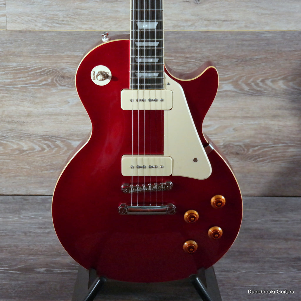 "1. Epiphone ""1956"" Les Paul Standard PRO Electric Guitar - Cardinal Red"