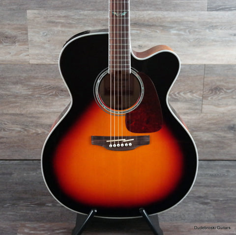 Takamine GJ72CE G Series Jumbo Cutaway Acoustic-Electric w/Hard-shell Case - Sunburst - Dudebroski Guitars