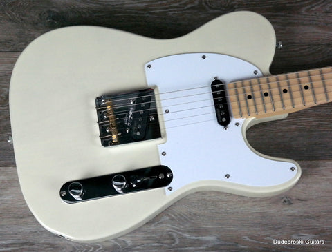 Vintage V58 Jerry Donahue Reissued, Custom 5-way Pick-up Switching, Ash Blonde - Dudebroski Guitars
