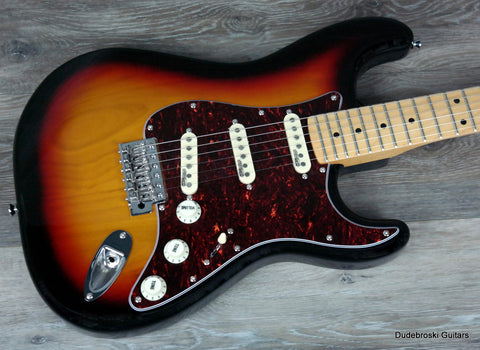 1. Vintage V6 Reissued Electric Guitar with Premium Wilkinson Hardware - Sunburst - Dudebroski Guitars