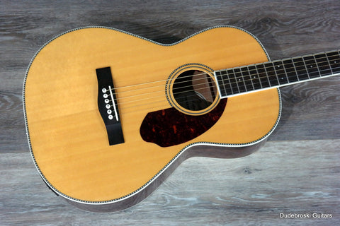 1. Fender Paramount Series PM-2 Standard Parlor Acoustic-Electric Guitar - Dudebroski Guitars
