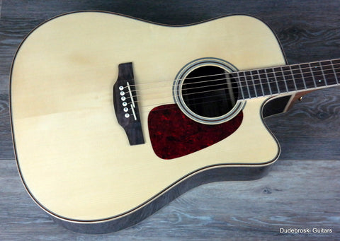 Takamine GD93CE G Series Dreadnought Cutaway Acoustic-Electric Guitar, Natural - Dudebroski Guitars