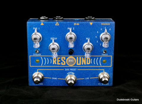 Cusack Resound Digital Reverb, Classic Tones to Ambient Space and Modulation in Stereo - Dudebroski Guitars