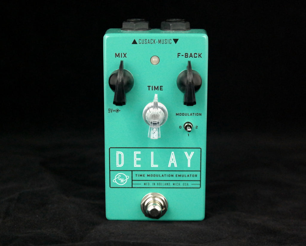 Cusack Delay TME Effects Pedal, Scaled Down Delay with Modulation and RCA Tap Jack