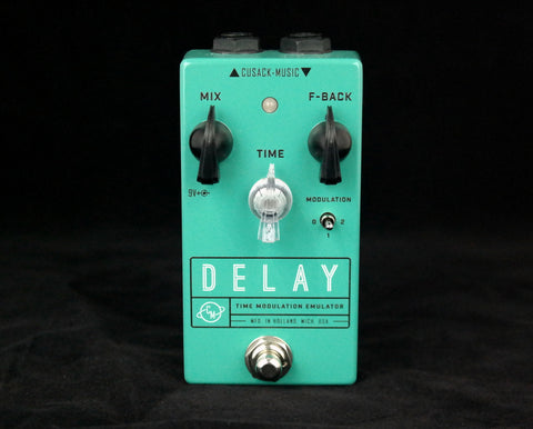 Cusack Delay TME Effects Pedal, Scaled Down Delay with Modulation and RCA Tap Jack - Dudebroski Guitars