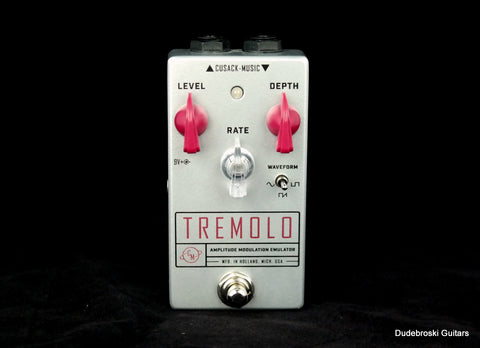 Cusack Tremolo AME Effect Pedal, Versatile Tremolo Effect and Easy to Dial In - Dudebroski Guitars