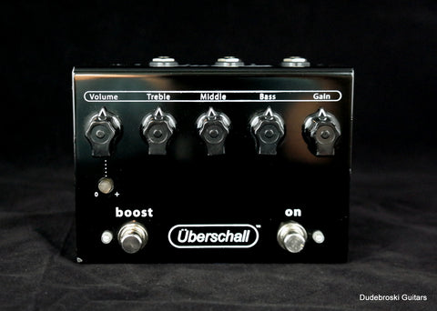 Bogner Uberschall  Pedal Based on the  Amplifier with 3-band EQ and Footswitchable Boost - Dudebroski Guitars