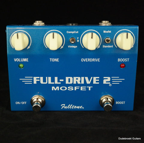 Fulltone Full-Drive2 Mosfet, Two Channel Overdrive and Boost - Used - Dudebroski Guitars