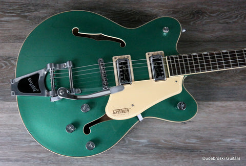 1. Gretsch G5622T Electromatic, Center Block Double-Cut, Bigsby, Georgia Green - Dudebroski Guitars