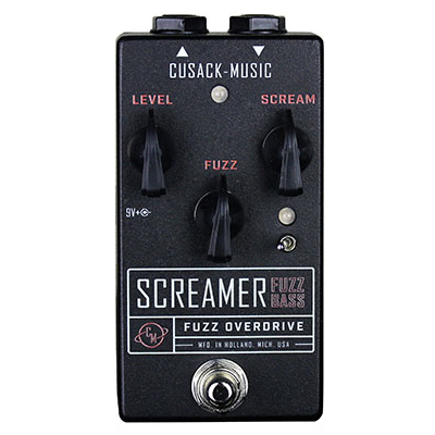 Cusack Screamer Fuzz Bass - Screamer Fuzz w/ More Low End for Bass Guitar - Dudebroski Guitars