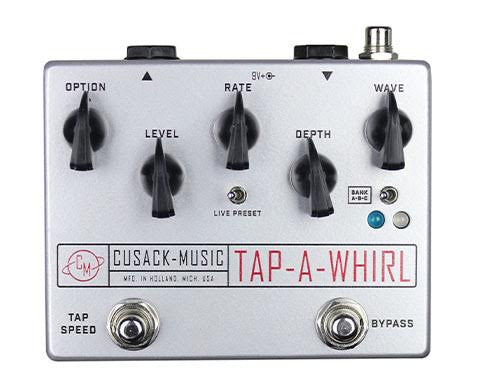 Cusack Tap-A-Whirl, Smooth Tremolo effect with Tap-Tempo, Stereo Out