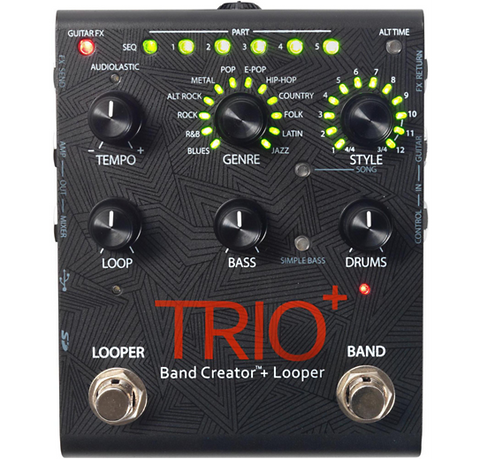 Digitech - Trio+ Band Creator Plus Looper Guitar Effects Pedal, Band in a Box!