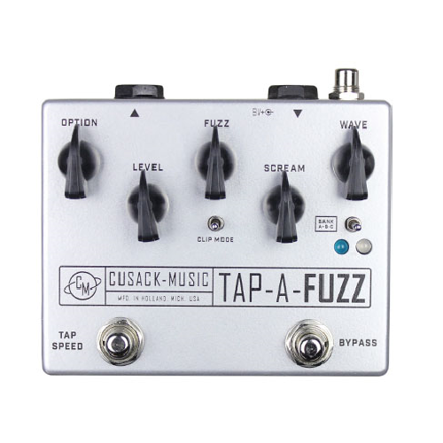 Cusack Tap-A-Fuzz, The Gain and Grit of a Screamer Fuzz Combined with Tap-Tempo