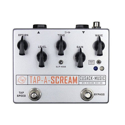 Cusack Tap-A-Scream,  24 Waveforms to Modulate the Gain via Tap Tempo