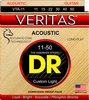 DR VERITAS Phosphor Bronze Acoustic Guitar Strings Wound on Hexagonal Cores, Custom Light 11-50 - Dudebroski Guitars