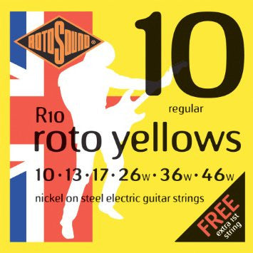 Rotosound Guitar Strings 2-Pack - Roto Yellows Double Deckers (10's) - Dudebroski Guitars