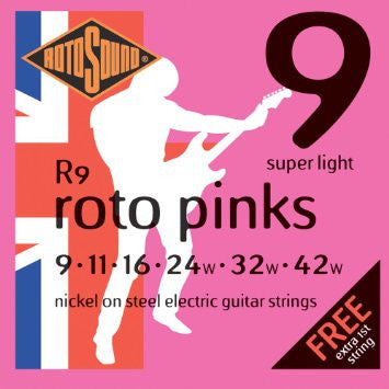 Rotosound Guitar Strings 2-Pack - Roto Pinks Double Deckers (9's)