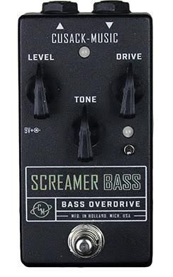 Cusack Screamer Bass Overdrive, Full of Grit, Guts and Glory with Clarity for Bass Guitar - Dudebroski Guitars