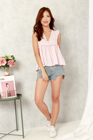 CASTELL RUFFLES TOP (BABY PINK)
