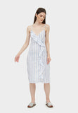 FAUNA STRIPE MIDI (BLUE)