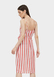 FAUNA STRIPE MIDI (RED)