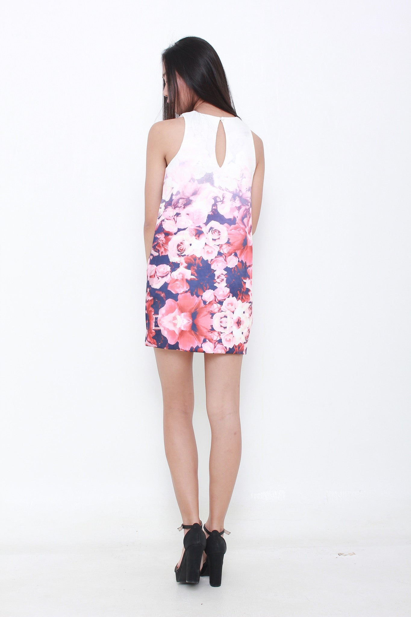 Ombre Rose Shift Dress