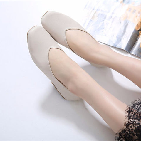 MICAH LEATHER FLATS