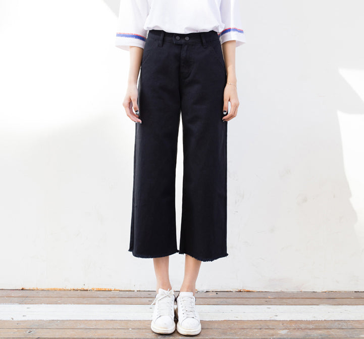 DOUBLE BUTTON CULOTTES