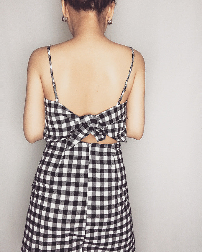 AFTERNOON DRESS (GINGHAM)