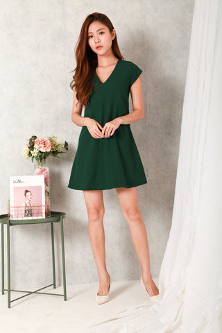 DAWN TILL DUSK FLARE DRESS (GREEN)