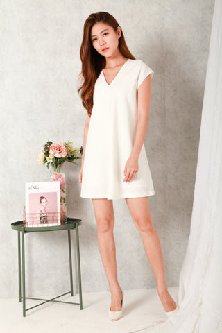 DAWN TILL DUSK FLARE DRESS (WHITE)