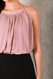 ELAINE HALTER PLEAT TOP