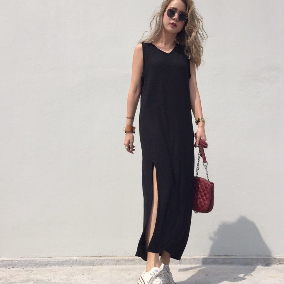 Nelle Slit Maxi Dress