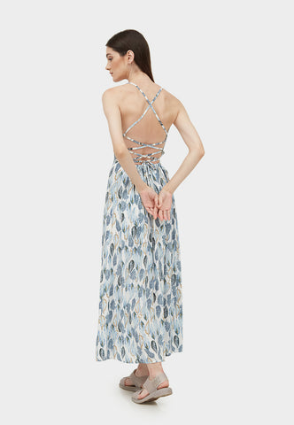 THERINA FEATHER SLIT MAXI