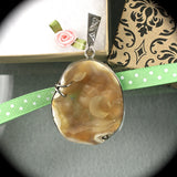 Tampa Bay Coral sterling silver pendant - Rusmineral cabochons&jewelry - 2
